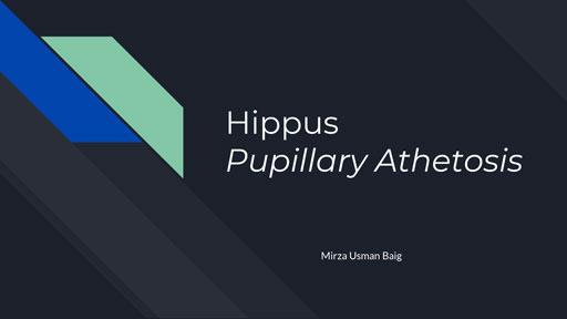 Hippus Pupillary Athetosis
