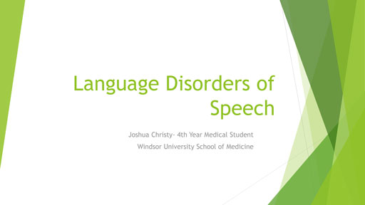 Language Disorders of Speech